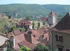 Quercy village rooftops
